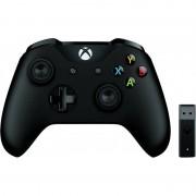 Gamepad Microsoft Xbox One Wireless Controller Black + Wireless Adapter v2
