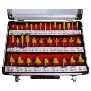 Extol Craft felsőmaró klt. 35db, (alu kofferben) ; 8mm-es befogással, keményfém lapkás 44040