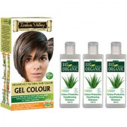 Permanent Hair Colour Gel Medium Brown 4.00 And Colour Protective Shampoo Set Of 4