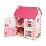 Janod Casa de muñecas Mademoiselle, Color Rosa