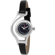 Meia Round Dial Black Analog Watch For Women-WCL-1