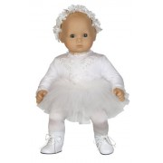 """Ice Skating Costume With Ice Skates And Tiara Outfit Fits 15"""" Dolls Like Bitty Baby And Bitty Twins"""