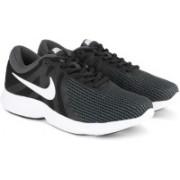 Nike NIKE REVOLUTION 4 Running Shoes For Men(Black, Green)