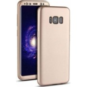 Husa FullBody Silicon MyStyle Gold pentru Samsung Galaxy S8 Plus acoperire completa 360 grade cu folie de protectie gratis