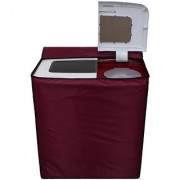 Glassiano Mehroon Waterproof Dustproof Washing Machine Cover for Semi Automatic Samsung WT725QPNDMP 7.2 Kg washing machine