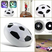 Supermall New Indoor Outdoor Air Power Soccer Hover Foam Bumpers and Light Up LED Lights -Best Birthday Gift