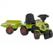 FALK Tractor ride-on Claas Axos 310 cu remorcă, verde