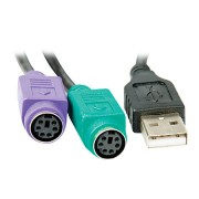 Cabo Conversor USB para PS2 20cm