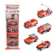 Bighub Fire fighting truck : CYNDIE Mini Alloy Car Model Toys Set Sports Car/Police Car/Fire Fighting Truck/Military Vehicles/Engineering Vehicles Pull Back Car Toy for Gift Fire fighting truck Collection