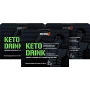 PowGen Keto Drink Trio Con il 75% di polvere MCT naturale di cocco Senza olio di palma Programma di 30 giorni