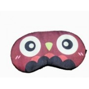 AweStuffs Owl Eye Mask with 3D Printing Cute Cartoon Pattern, Best Sleeping Eye Cover for Travel, Nap, Meditation, Blindfold with Adjustable Strap for Men, Women or Kids Eye Shade(Brown)