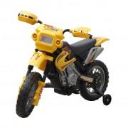 vidaXL Elektrická motorka pre deti žltá