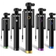 EC Selfie Stick Monopod With Easy Aux Selfie Stick (Black)