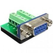 Delock Adattatore DB9 pin Femmina Terminal Block 10 pin