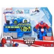 Transformers Rescue Bots Optimus Prime Racing Trailer