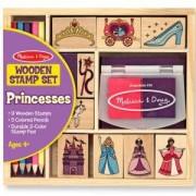Комплект дървени печати с принцеси - 12418 - Melissa and Doug, 000772124188