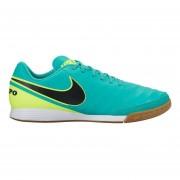 Zapatos Fútbol Hombre Nike Tiempo Genio II Leather IC-Verde