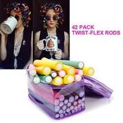 Coosa 42-pack Twist-flex Rods Hair Rollers Bendy Foam Curler Roller Set