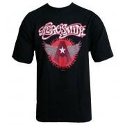 tricou stil metal Aerosmith - Flying A Logo - HYBRIS - ER-1-AERO008-H73-1-BK