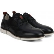 Clarks Trigen Wing Black Leather Sneakers For Men(Black)