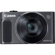 Canon PowerShot SX620 HS Digitale camera, 20,2 megapixels, 25-maal optische zoom, 50-maal ZoomPlus, 7,5 cm (3 inch) display, optische beeldstabilisator, WLAN, NFC, zwart