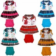 Baby Girls Wonderful Awesome Printing Tops and Bottoms Set Multicolor Best Choice for Our Baby Girls (Set Of 5)