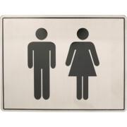 Oxloc Pictogram roestvaststaal 170x130 toiletgroep d+h