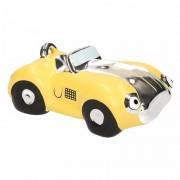 Geen Spaarpot gele sportauto cabriolet 14 cm