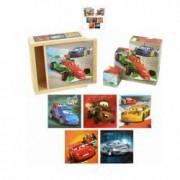 Cutie cu blocuri de lemn Cars Playme
