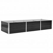 vidaXL Vaso/floreira de jardim aço galvanizado 240x80x45 cm antracite