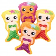 Baker Ross Mermaid Plushies - 4 Assorted Soft Toys. Plush Stuffed Toys. Kids Mermaid Party Bag Fillers. Size 20cm.