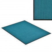 [en.casa]® Felpudo atrapasuciedad alfombra de entrada felpudo para puerta turquesa 90 x 60 cm