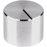 Buton aparat de masura Mentor, neted, aluminiu, Ø ax 6 mm, tip 521.6191