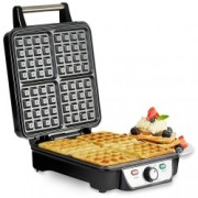 Aparat waffle Andrew James Belgian Waffle Maker AJ001315, 4 Felii, 1100 W, Temperatura Ajustabila