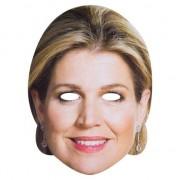 Merkloos Koningin Maxima masker voor volwassenen
