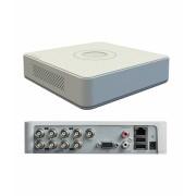 DVR Hikvision DS-7108HGHI-F1, 8-ch BNC interface (1.0Vp-p, 75 ohm),G.711u ,RCA (2.0 Vp-p, 1 kohm), 1-ch, RCA (2.0 Vp-p, 1 Kohm) (using audioinput),1/16 fps ~ Real time frame rate, 1-ch RCA(Linear, 1kohm), TCP/IP ,PPPoE,DHCP, EZVIZ Cloud P2P, DNS, DDNS, NT