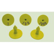 Crotalii rotunde scrise laser x 100 buc