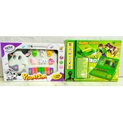 PLAY DESIGN Laptop for Kids & Musical Cow Educational Piano (Multi color) COMBO PACK