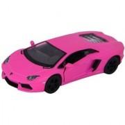 Emob 136 Scale Die Cast Metal Pink Murcielago Pull Back Car Toy with Openable Doors (Multicolor)