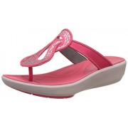 Clarks Women's Wave Glitz Berry Red Fashion Sandals - 7 UK/India (41 EU)