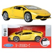 dgboy WELLY 1:34 Lamborghini Huracan LP 610-4 / Yellow / Toy / DIE-CAST Toy Model cars