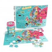 Puzzle Noriel Cunoastere - Harta Europei, 150 piese+ Poster