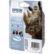 Epson ( T1006 ) Multipack (C,M,Y) Ink Cartridge - Epson Stylus Office B40W/BX600FW; Epson Stylus SX600FW - C13T10064010