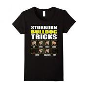 Womens English Bulldog | Stubborn Bulldog Tricks Special Edition XL Black