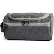 House of Quirk Hanging Toiletry Bag Organizer & Bathroom Storage Dopp Kit with Hook for Travel Accessories (Dark Grey)(Grey)