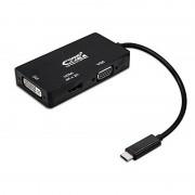 Nanocable Conversor USB-C para VGA/DVI/HDMI USB-C/M-VGA/H-DVI/H-HDMI/H Preto 10 cm