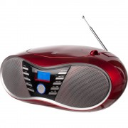 Dual P 60 BT CD radio ukw aux, Bluetooth, USB crvena