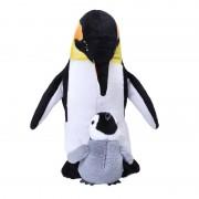Wild Republic Pluche pinguin met baby knuffels 38 cm knuffeldieren