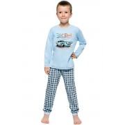 Paul gyerek pizsama autóval, kék 128
