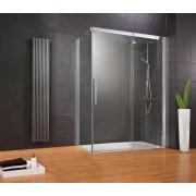 Schulte Home Porte de douche coulissante + paroi latérale Manhattan, 120 x 90 cm, anticalcaire, ouverture vers la droite